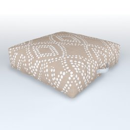 Diamond Dots in Tan Outdoor Floor Cushion