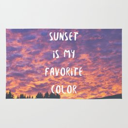 Sunset is My Favorite Color Rug