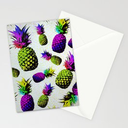 colorful pineapple pattren Stationery Cards