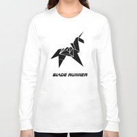 blade runner Long Sleeve T-shirts featuring Blade Runner - Rachel's Origami by Thecansone