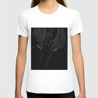 smoking T-shirts featuring smoking by Rina Deguchi