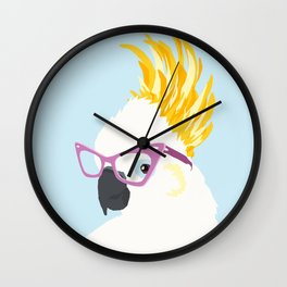 Mulberry Cockatoo Wall Clock
