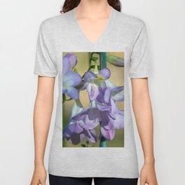 Lavender Freesias Unisex V-Neck