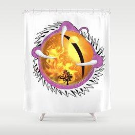 Bubblegum Dragon's Eye Shower Curtain