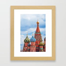 St. Basil's Cathedral in Moscow, Russia. Framed Art Print
