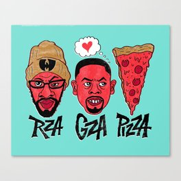 RZA, GZA, PIZZA Canvas Print