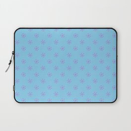 Lavender Violet on Baby Blue Snowflakes Laptop Sleeve