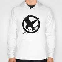 mockingjay Hoodies featuring The MockingJay  by Lauren Lee Design's