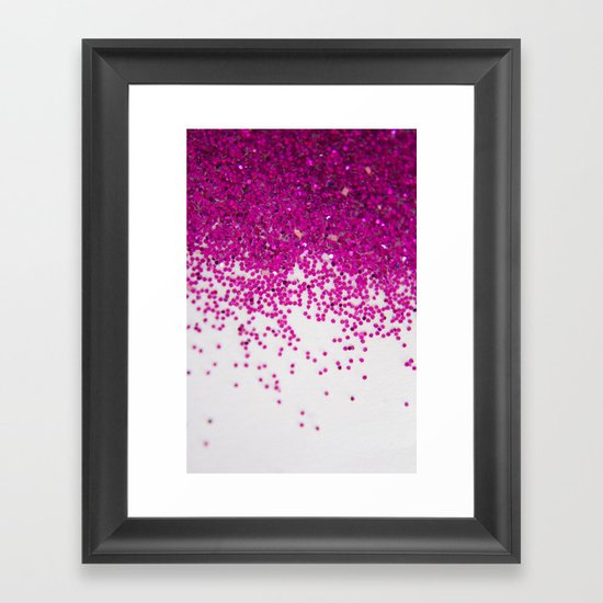 Fun I (NOT REAL GLITTER) Framed Art Print