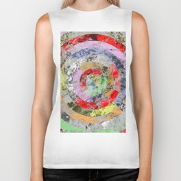 Textured Bullseye - Abstract, marble, pastel colours Biker Tank