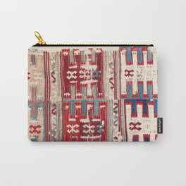 Cappadocian 18th Century Anatolian Kilim Print Carry-All Pouch