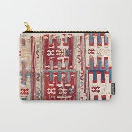 Cappadocian 18th Century Anatolian Kilim Print Carry-All Pouch