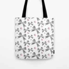 Pink bow heart Tote Bag