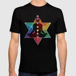Sacred Geometry Merkaba Chakra Meditation T-shirt
