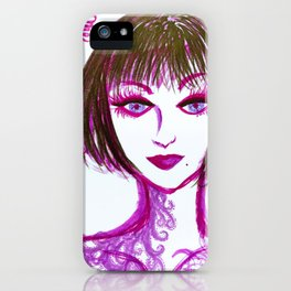 The Lady with thorn iPhone Case