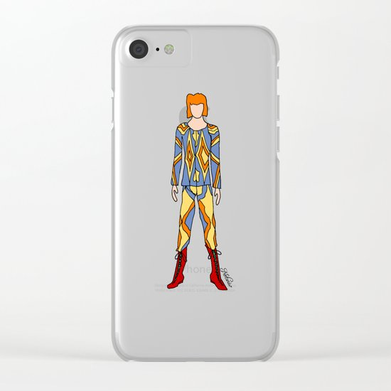 Bowie Fashion 1 Clear iPhone Case