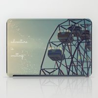 coasters iPad Cases featuring Adventure is Waiting by RDelean