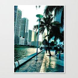 concrete shore Canvas Print