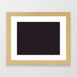 Dr. Who #11 tie pattern Framed Art Print