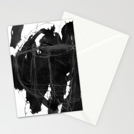 black on white 5 Stationery Cards