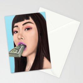 She speaks money Stationery Cards