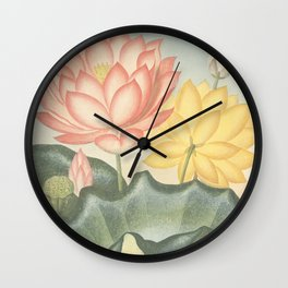 Pastel Flowers : The Sacred Egyptian Bean: New Illustration Of The Sexual System Wall Clock