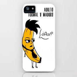 Banana Madura iPhone Case
