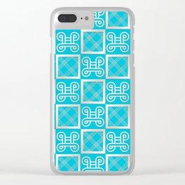 Ethnic african pattern.Adinkra simbols. Clear iPhone Case