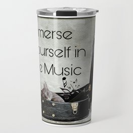 Milonga Cat - Immerse Yourself in the Music Travel Mug