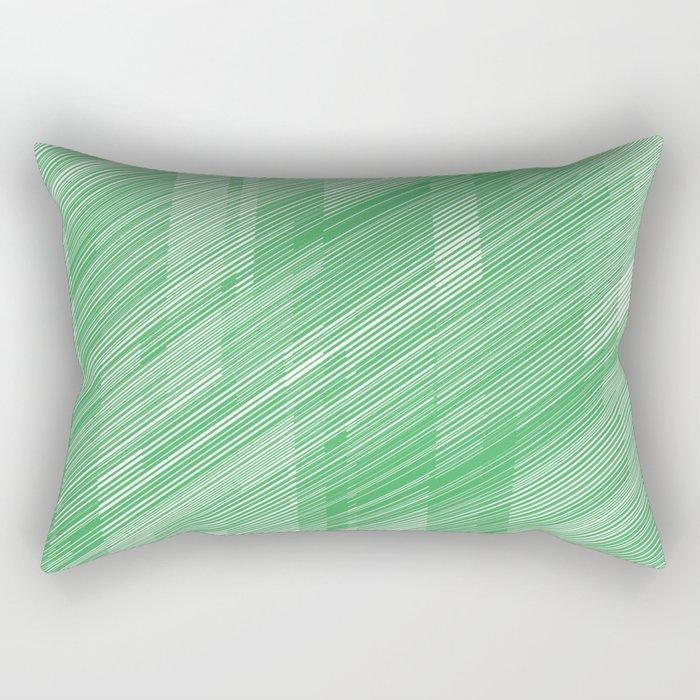 The Green Hash - Geometric Pattern Rectangular Pillow