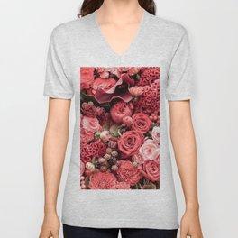 Flowers Fanfare Unisex V-Neck