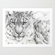 Snow Leopard G007-2006 Art Print