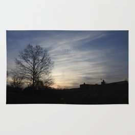 Silhouettes at Sunset Rug