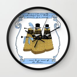 Pride and Prejudice and Daleks Wall Clock