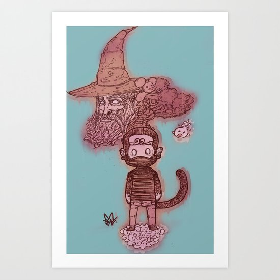 Journey to the what? Art Print