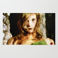 thrones Area & Throw Rugs featuring Portrait of Natalie Dormer (tutors / game of thrones) by André Joseph Martin