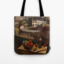Diego Rivera - Knife and Fruit in Front of the Window Tote Bag