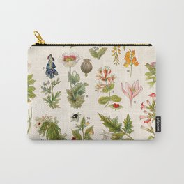 Adolphe Millot - Plantes vénéneuses - French vintage botanical illustration Carry-All Pouch
