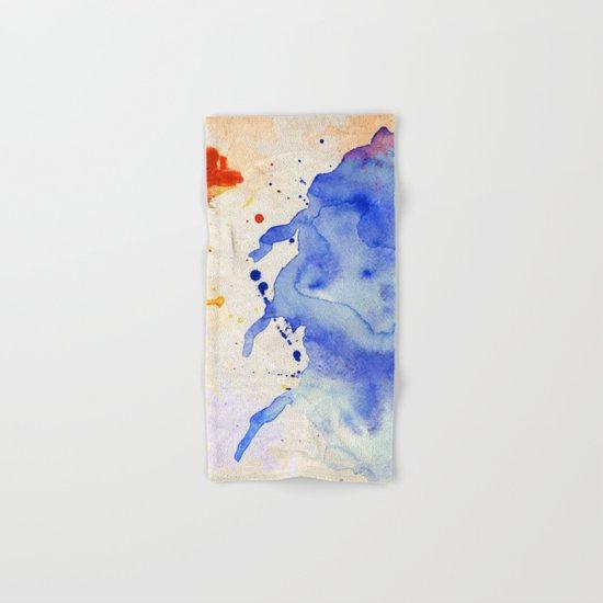 Blue & Orange Color Splash Hand & Bath Towel