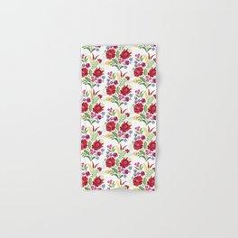 Hungarian Folk Design Red Peppers Hand & Bath Towel