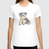 yorkie T-shirts featuring Yorkie Pup by The Painted Lace