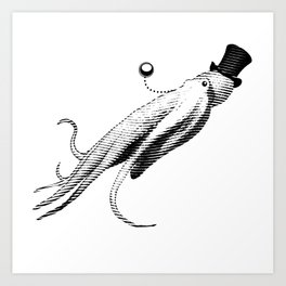 Vincent the Sophisticated Octopus Art Print