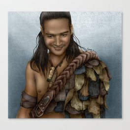 Nasir's Sneaky Smile (Nagron, Spartacus) Color Version Canvas Print