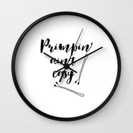 Printable Art,Makeup Print,Wall Art,Bathroom Decor,Gift For Her,Fashion Print,Typography Print Wall Clock