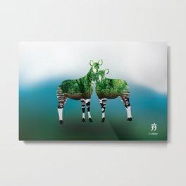 Mythical Beast: The Okapi Metal Print