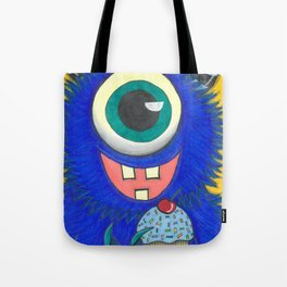Monster and his cupcake Tote Bag