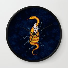 Witch And Snake Wall Clock