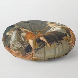 Jacques Louis David The Death of Socrates Floor Pillow