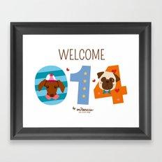 Welcome 014 Framed Art Print