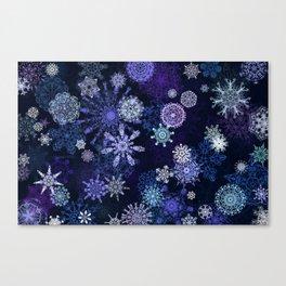 Winter Snowflakes Canvas Print